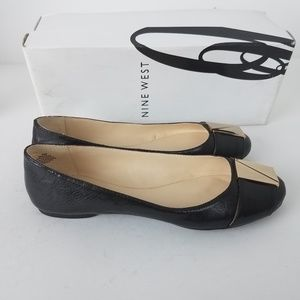NWT Nine West Corqui Ballet Flats Black Size 6.5
